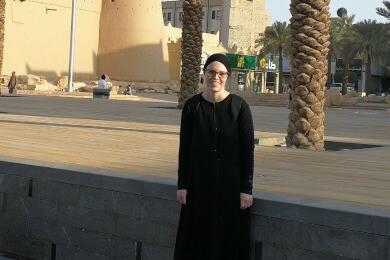 Svenja Suhre in Riad, Saudi Arabien